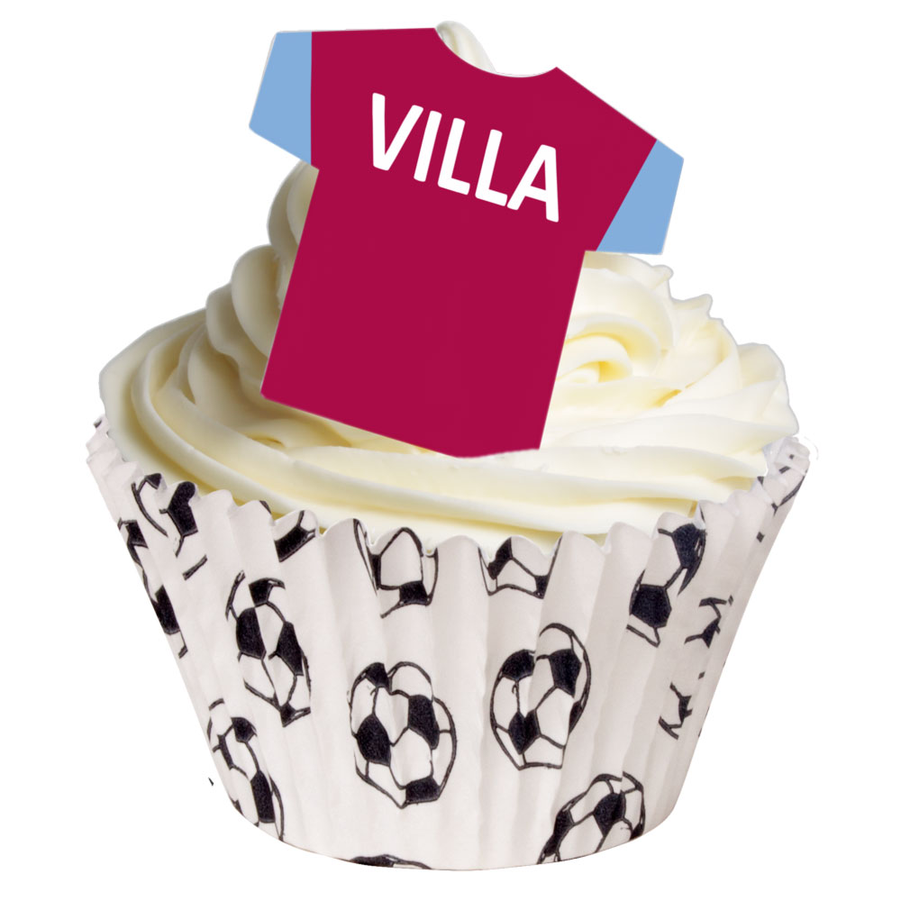 ASTON VILLA CAKE EDIBLE WAFER PAPER TOPPER MULTIPLE SIZES AVAILABLE