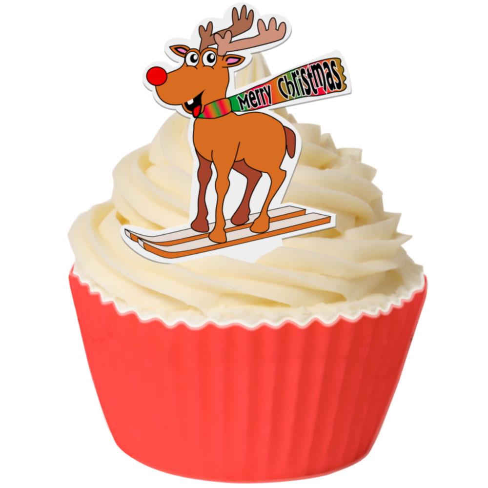 Edible Wafer Cupcake Toppers from CDA Products Rudolf on ...