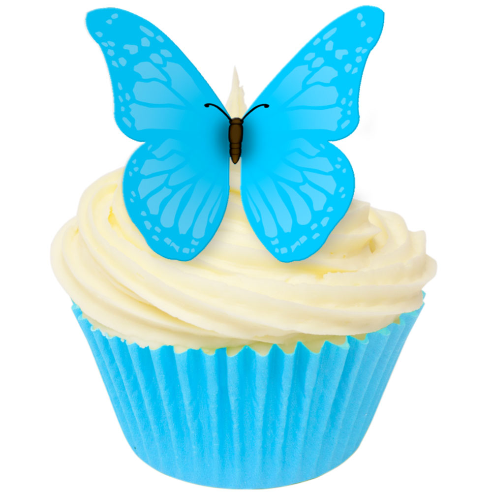 Cake Decorating Stockists Uk : Edible Wafer Cupcake Toppers from CDA Products Vivid Blue ...