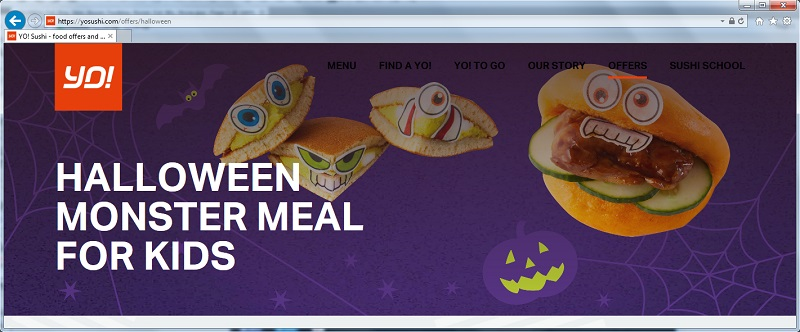 Link to Yo Sushi Halloween Monster Meal